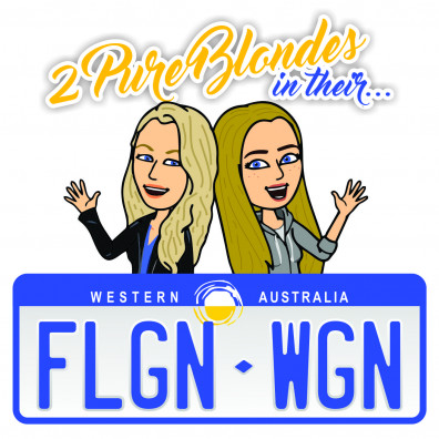 2 Pure Blondes in their Flagon Wagon